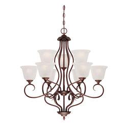 Millennium Lighting - Millennium Lighting 1529 Cleveland 9 Light 2 Tier Chandelier - Features: