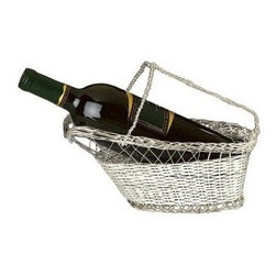 Franmara - 9.75 Inch Silver Plated Wine Bottle Cradle with Basket Weave Design - This gorgeous 9.75 Inch Silver Plated Wine Bottle Cradle with Basket Weave Design has the finest details and highest quality you will find anywhere! 9.75 Inch Silver Plated Wine Bottle Cradle with Basket Weave Design is truly remarkable.