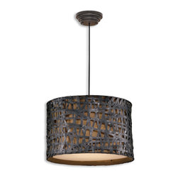 www.essentialsinside.com: alita black pendant light - Alita, Metal Hanging Shade by Uttermost