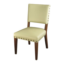 Marco Polo Imports - Duke Dining Chair - The Duke contemporary dining chair features a bold, European-inspired style. The ivory leather upholstery adds a new dimension to modern luxury.