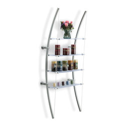 Bow Shelf System - SH32 - SH32 - Perhaps even more than a pragmatic shelving system, Bow stands alone as its own fine piece of functional art. So the question becomes: Is the art on the shelf? Or is the shelf itself the art? Or is it both? Questions worth pondering. There may be no simple answers.