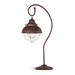 Bassett Mirror - Alleghany Table Lamp - This table lamp brings the outdoors in with a rustic style and old fashioned appearance.  Beaconing to your guests, this lamp provides a warm glow and a welcoming feeling in any room.