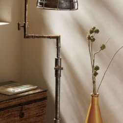 Fornax Table Lamp - I love this industrial-style table lamp. It would give your desk a steampunk vibe.