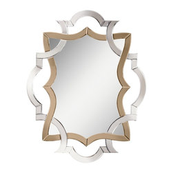 Kichler Lighting - Kichler Lighting Lydia Modern / Contemporary Wall Mirror X-93187 - The Clear finish on this Lydia&trade: mirror allows the clean, Grey Amber construction to shine. Elegant, tapered edges will make this design a memorable accent in your home.