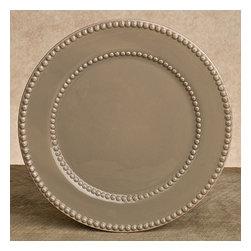 "Gracious Goods GG - GG Livingstone Ceramic Taupe Dinner Plates- Set of 4 - Serve your festive dinners with a touch of elegance and grace, with our high quality set of 4 ceramic dinner plates. Beautiful Italian-inspired dinnerware will bring old world elegance and charm to your home. These simple yet sophisticated taupe dinner plates, will set your tables aglow adding immense fashion to your settings! *Set of 4 *Dimensions: W:11"" D:11"" H:1"" Note: All finishes in this line are handcrafted, resulting in variations of color that reflect the unique character of each piece."