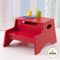 Kid Kraft - Kid Kraft Red Colored Step 'N Store Storage Unit - This is kid kraft red colored Step 'N Store storage unit which brings kids a new independent life with hard to reach objects. It can be Small enough so that it can be kept in any room size and occupy small space. It can also be a perfect gift for kids. Its top step lifts reveal convenient storage space with Low center of gravity.