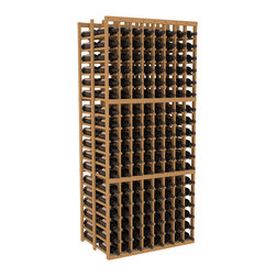 Wine Racks America - 8 Column Double Deep Cellar in Pine, Oak - This high capacity 8 column wine rack holds up to 24 cases of wine. Designed for beauty and efficiency, you'll love this rack. Made in the USA and guaranteed to last a lifetime. Double deep wine racks are perfect for large wine cellars and retail applications. Great for restaurants, bars or private collections.
