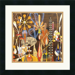 "Amanti Art - ""Megalaria (detail II)"" Framed Print by Rex Ray - Let this delightful abstract garden bring wit and color to your decor. The work of graphic artist Rex Ray, it's got a fun, retro-mod mood sure to spark conversations in your favorite setting."
