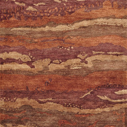 "Loloi - Loloi Eternity EY-03 3'6"" x 5'6"" Spice, Rust Rug - The all-new Eternity Collection features four transitional tonal patterns, which are hand-tufted of 100-percent bamboo silk in India. Each pattern is offered in one distinctive color in a palette that includes brown, sand, spice/rust and silver/gray."