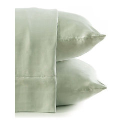 BambooDreams® - Bamboo Dreams® Luxe Sateen Sheet Set, Twin XL, Mist - The 300 thread count sateen feels so heavenly soft you will dream you are sleeping in the clouds. Made from the world's most renewable resource, this bedding is exquisitely sensuous and silky while also a thoughtful ecological choice. No anti-wrinkling agents or chemicals added. The more you use and wash them, the softer they become. We invite you to experience the pleasure of heavenly linens with earthly values.