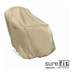 Sure Fit - Sure Fit Adirondack XL Chair Cover - This neutral polyester outdoor chair cover in tan protects outdoor furniture from the elements such as sun,rain,snow,and wind. High-quality material that is machine washable ensures important items are protected despite what is happening outside.