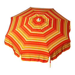 DestinationGear - Italian 6 ft Umbrella Acrylic Stripes - Red, Orange and Yellow - Taking in the sun on the Amalfi coast is to some a dream come true.  In the case of the DestinationGear Italian Bistro style umbrellas, you'll feel like you are in Italy when you open up this 6 foot diameter shade provider.  Stylish, high-quality and designed for the patio, beach or camping outing.