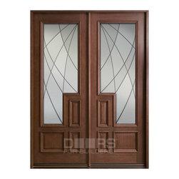 Modern Collection (Custom Solid Wood Doors) - Solid Wood Door - Double Door - Modern Collection - Doors For Builders Inc.