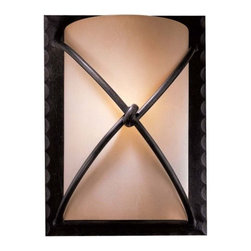 Minka-Lavery - Aspen II Wall Sconce by Minka-Lavery - A refined and quietly rustic wall sconce that's available in three sizes. The Minka-Lavery Aspen II Wall Sconce No. 1972-5 offers subtle log cabin appeal, with a bronzed finish and artisan iron-like detailing. A nice choice for foyers, hallways and family rooms.Minka-Lavery, recognized as a leader in modern elegance, offers decorative lighting with high quality craftsmanship in a variety of materials, including solid brass, wrought iron and cast aluminum. Located in Corona, CA, the Minka Group is branched into three providers that offer creative designs as well as timeless classics: Minka-Lavery lighting, Minka Aire fans and George Kovacs lighting.The Minka-Lavery Aspen II Wall Sconce No. 1972-5 is available with the following:Included Features:Rustic Scavo glass shade.Rugged knot detail.Aspen Bronze finish.Wall plate.UL Listed.Options:Size: Large, Medium (shown), or Small.Lighting:Large option utilizes two 100 Watt 120 Volt Medium Base Incandescent lamps (not included).Medium option utilizes one 100 Watt 120 Volt Medium Base Incandescent lamp (not included).Small option utilizes one 60 Watt 120 Volt Candelabra Base Incandescent lamp (not included).Shipping:This item usually ships in 48 hours.