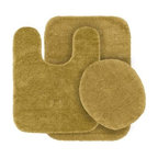 """Garland Rug - Bath Mat: Traditional Linen 21"""" x 34"""" Bathroom 3 Piece Rug Set - Shop for Flooring at The Home Depot. Traditional Bath Rugs will complement any bathroom decor. The basic plush design is a classic look. Traditional bath rugs are made with 100% Nylon for superior softness and quality. Proudly made in the USA."""