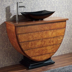 contemporary bathroom vanities and sink consoles by homedecorworld.com