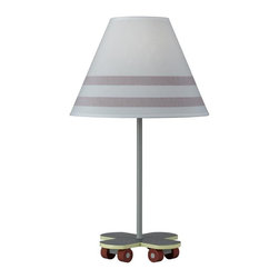 Cal Lighting - Juvenile Skateboard Lamp - Requires 60W bulb (not included). Skateboard lamp. Height: 21 in.. Base: 8 in. x 8 in.