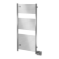 Amba - Amba | Antus A-2856 Towel Warmer - Made in Italy by Amba.The Antus A-2856 Towel Warmer updates modern bath spaces with function and durability. Made from sturdy stainless steel that is both rust and damage resistant, this sleek towel warmer will withstand the test of time. This dual-purpose piece works seamlessly as a towel warmer and as an entire room-heating radiator. Ideal for a large bath space, this 32 paneled towel warmer can comfortably hold multiple towels for storage and heating purposes alike. Product Features: