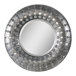 Ren-Wil - Ren-Wil Splendid Wall Mirror - 32 diam.in. Multicolor - MT1150 - Shop for Mirrors from Hayneedle.com! The name of the Ren-Wil Splendid Wall Mirror - 32 diam.in. really says it all. A round center mirror is beautifully framed in a mod metal frame with antique silver accents. Just the right accent for any decor style this unique mirror is sure to be an instant focal point.