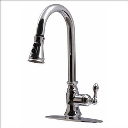 Ultra Faucets - Ultra Faucets UF12100 Signature Faucet, Spray - Single lever handle for easy control