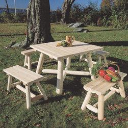 Rustic Cedar Cedar Looks English Garden Table -