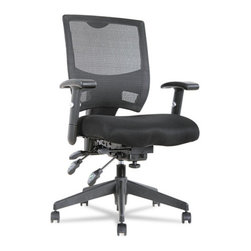 Alera - Alera Epoch Series High Performance Multifunction Chair, Mesh Back/Seat, Black - Aesthetically designed for contemporary feel.