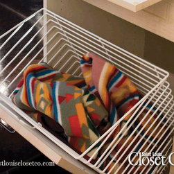 Saint Louis Closet Co. Accessories - Tilt-Out Laundry Hamper.  Saint Louis Closet Co.