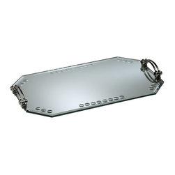Cyan Design - Cyan Design Mirrored Glass Tray in Silver - Mirrored Glass Tray in Silver