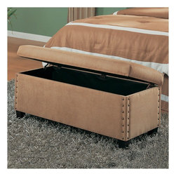 Wildon Home � - Mason Storage Bench - Features: -Casual style.-Headboards and benches covered either leather or microfiber upholstery.-Seat top opens for storage.-Color: Tan.-Distressed: No.-Collection: Storage.Dimensions: -Overall Product Weight: 36.3 lbs.