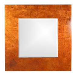 Howard Elliott - Howard Elliott 14205 Kayla Bright Lotus Orange Lacquered Frame Mirror w/ Black A - Bright Lotus Orange Lacquered Frame Mirror w/ Black Accents belongs to Kayla Collection by Howard Elliott This Contemporary Mirror's square frame is vividly painted with a lotus orange lacquer accented with black highlights. Mirror (1)