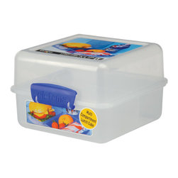 Sistema Klip It Lunch Cube - Now you can take your lunch on the go with the Klip-It Lunch Cube! Thanks to ingeniously arranged dividers  the Klip-It Lunch Cube holds a sandwich  fruit  and chips all in seperate compartments while maintaining its compact and stylish design.  The Lunch Cube patented clasps and an airtight lid make it super easy to open and close  and you can be sure that your lunch will fresh until you are ready to eat it!Product Features                                   Capacity - 1.4 Litre / 48 oz / 6 cups            Microwave  dishwasher  & freezer safe            BPA Free - Made from lead free virgin materials            Made in New Zealand