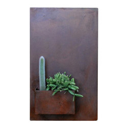 Potted - City Planter by Potted, Standard, Vertical - Wall planters as art. City Planters add an intriguing dimension to vertical gardening. Hang several on a wall for dramatic impact, or let them stand alone.