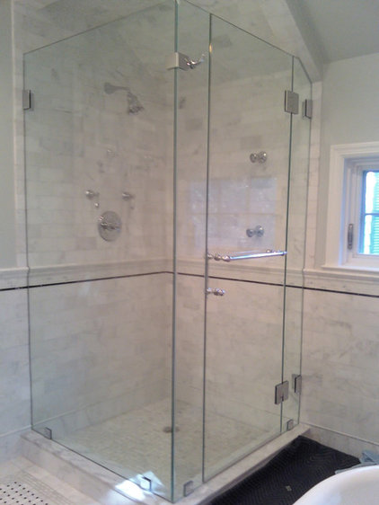 Traditional Shower Stalls And Kits by ATM Mirror and Glass