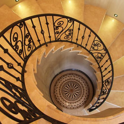 Sicilian Custom iron Railing - First Impression Security Doors creates amazing railings and staircases.