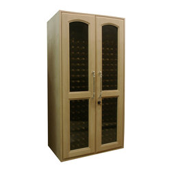 Custom Wood Wine Cabinet with Ornate Handle - Wine Hardware of Sonoma