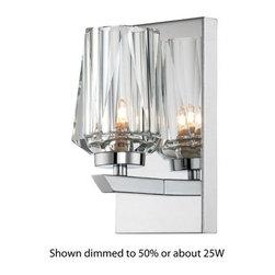 Alternating Current - Alternating Current AC1001 Ginsu Chrome 1 Light Bathroom Sconce - Features: