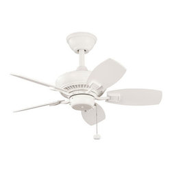 Kichler Lighting - Kichler Lighting 300103SNW Canfield Outdoor Fans in Satin Natural White - 30 Inch Canfield Fan