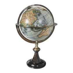 Authentic Models - Globe Stand 'Paris 1745' - Classic Vaugondy French globe stands excel in the visual appeal of their proportions, a rich and perfect match of ebonized wood and bronze. We're in love with our new globe stands with historic globes. Solid and still fragile, elegant and imposingly present. Beauty is in the eye of the beholder... we can only recommend...