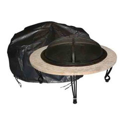 "Outdoor Round Fire Pit Vinyl Cover w/ Felt Lining - 42"" Diameter - Our Large Outdoor Round Fire Pit Vinyl Cover is constructed of heavy 10 gauge, felt lined vinyl. This attractive cover easily slips on and off of your fire pit. Protect your fire pit investment against the elements."
