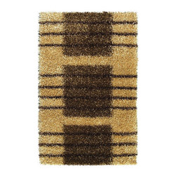 """Noble House - Pearl Brown/Beige Rug - This collection is made on hand loom construction, with poly blended special yarn in soft as well as bright color combinations. Developed in modern designs and patterns in soft and shiny look to complement the prevailing interior decor. Features: -Technique: Woven.-Material: Polyester.-Depending on amount of traffic on rugs, professional cleaning or washing is required every 1 to 2 years..-Rugs should be vacuumed on regular basis to remove dust and dirt which would restore life to the fibers. Do not vacuum the fringes. Do not Vacuum Shaggy rugs as it will damage the rug. To clean the Shaggy rug, flip it over and shake well by hand..-To avoid spills setting deep and becoming stubborn, it is recommended to act immediately. When spills occur on rugs, put some water in the affected area to dilute, blot with clean white cloth or paper towel. Remove the moisture as much as possible by blotting with absorbent cloth or thick paper towel. Do not rub spills as could result in setting spills deeper in the affected area..-Construction: Handmade.-Do not expose rugs in direct sun light for longer time as it could result in faded colors of rugs..-Collection: Pearl.-Distressed: No.-Primary Color: Brown/Beige.-Product Care: In case of liquid, blot clean with undyed cloth by pressing firmly around the spill to absorb as much as possible..-Type of Backing: Latex.-Fringe: No.-Reversible: No.-Rug Pad Needed: No.-Water Repellent: No.-Mildew Resistant: No.-Stain Resistant: No.-Fade Resistant: No.-Eco-Friendly: No.-Recycled Content: No.-Outdoor Use: No.Specifications: -CRI certified: No.-Goodweave certified: No.Dimensions: -Pile height: 0.08''.-Pile Height: 2"""".-Overall Product Weight (Rug Size: 4' x 6'): 30 lbs.-Overall Product Weight (Rug Size: 5' x 8'): 45 lbs.-Overall Product Weight (Rug Size: 8' x 11'): 75 lbs.Warranty: -Product Warranty: No warranty."""