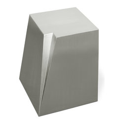 Gus Modern - Gus Modern Glacier End Table - It just doesn't get any cooler than this. A brushed, stainless steel accent table that evokes the vibe of a glacier — it's the perfect piece for your minimalist modern setting.
