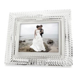 """Waterford - Waterford 8-Inch Crystal Digital Photo Frame - Technology and luxury finally meet in this Waterford Crystal 8"""" high resolution LCD photo frame that displays up to 1600 photos, slide show, music, and video. Features a simple one-step user interface."""