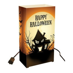 LumaBase Electric Haunted House Luminaria Kit - Set of 10 - Brighten your haunted mansion with the illuminating LumaBase Electric Haunted House Luminaria Kit - 10 Count.Includes 10 plastic weatherproof lanterns, 10 anchor stakes, one 30-ft. UL-listed electric cord with end-to-end connectors, 10 clear C7-5 Watt bulbs.About JH SpecialtiesFounded in 1989, JH Specialties originated when the company's entrepreneurs sought to redesign a bulky and messy celebration staple. Today, JH Specialties offers unique decorative Luminarias and accessories for special and seasonal occasions to event planners, neighborhoods, fundraising organizations, and retail stores. Since special occasions shouldn't be hard to plan, JH Specialties offer top-of-the-line products for unique events at a competitive price and a great value. The title of Leader in Luminarias comes from their commitment to quality and customer service.