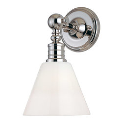 Hudson Valley Lighting - Hudson Valley Lighting 9601-PN Darien 1 Light Wall Sconces in Polished Nickel - This 1 light Wall Sconce from the Darien collection by Hudson Valley Lighting will enhance your home with a perfect mix of form and function. The features include a Polished Nickel finish applied by experts. This item qualifies for free shipping!