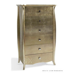 ARMANI GOLD 6 DRAWERS CHEST - Extra luxury Armani Gold 6 drawers cabinet. Perfect for an elegant bedroom decor.