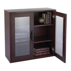 Safco - Safco Apres Modular Storage 2 Door Cabinet in Mahogany - Safco - Computer Desks - 9442MH - About this product: Your workspace is always changing, so when it does make sure it changes in style! With Apres Modular Storage you can change your organization and storage options as you need them. Apres works great in executive offices, managers offices, reception area, conference room, media center or training room. Use them together or individually to get the perfect amount of storage options. Additionally use pieces separately in lounge areas, home or work office, classroom or library. And if you ever need more storage space easily add another Apres!