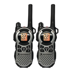 Motorola Products - Pair of 35-Mile Talkabout 2-Way Radios - Weatherproof. Water resistant IP54. Rechargeable. LED flashlight. Emergency alert button. Mini USB port. NOAA. PTT power boost. Vibrate . iVOX . QT filter . Dual Watch. Class D Amp. 22 channels with 121 interference eliminator codes for 2,662 combinations. 11 weather channels with alert feature. Weather radio scan. Improved audio perfomance. Includes 2 radios, wall adapter with y-cable, single wall adapter & 2 mini USB connectors. Includes 2 NiMH long-life battery packs-1,300mAh. 2 belt clipsThe Motorola Talkabout MT352 series is the recommended choice when it comes to battery life performance. It provides you with up to twice the amount of battery life of the standard NiMH rechargeable battery pack. With a range of up to 35 miles*, it's perfect for active outdoor excursions or life's every day adventures. Take a pair on your next hunting, camping, or hiking trip and stay connected whatever the season.