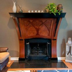 Art Nouveau Fireplace Surround and Mantle - Michael Evans