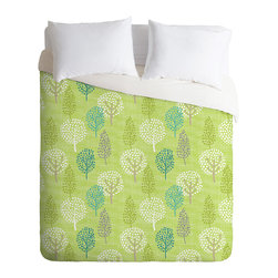 DENY Designs - Wendy Kendall Linen Tree Duvet Cover - Turn your basic, boring down comforter into the super stylish focal point of your bedroom. Our Luxe Duvet is made from a heavy-weight luxurious woven polyester with a 50% cotton/50% polyester cream bottom. It also includes a hidden zipper with interior corner ties to secure your comforter. it's comfy, fade-resistant, and custom printed for each and every customer.