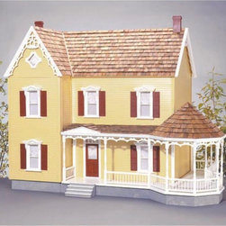 Real Good Toys - Real Good Toys Addison Dollhouse Kit - 1 Inch Scale - 1709-MM - Shop for Dollhouses and Dollhouse Furnishings from Hayneedle.com! Classic and elegant the Real Good Toys Addison Dollhouse Kit - 1 Inch Scale will make a fine addition to your collection. A dozen spacious rooms and impressive 9.438-inch floor-to-ceiling height make this stately model the perfect gathering place for figurines. Durable gingerbread trim measuring 0.125 inches thick adds to the charm of this old-fashioned structure which includes a wraparound gazebo porch and partial front-opening access. It will take approximately 30 hours to assemble and finish. This traditional 3-story house is available in two different durable construction options. Choose between milled plywood and MDF wall finishes. The decorative porch and other exceptional details reflect the uncompromising craftsmanship that went into the creation of this model adding fanciful form to an already handsome design. It features pre-assembled windows and doors moveable room dividers wooden shingles and sturdy 0.375-inch exterior walls and grooved sidewalls. Recommended supplies include a hammer glue masking tape sandpaper paint brushes ruler and brads. This exquisite kit is suitable for use by collectors. As it includes small pieces it's not recommended for children under the age of 3. About Real Good ToysBased in Barre Vt. Real Good Toys has been hand-crafting miniature homes since 1973. By designing and engineering the world's best and easiest to assemble miniature homes Real Good Toys makes dreams come true. Their commitment to exceptional detail the highest level of quality and ease of assembly make them one of the most recommended names in dollhouses. Real Good dollhouses make priceless gifts to pass on to your children and your children's children for years to come.